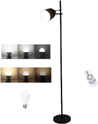 Lampadaire À Intensité Variable, Lampadaire À Hauteur Réglable Avec Télécommande, 2 Températures De Couleur, Interrupteur À Câble, Lampe Sur Pied Moderne Pour Salon, Chambre, Bureau, Bureau, Douille