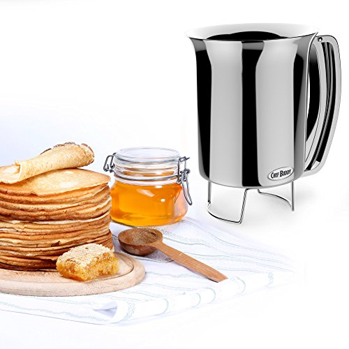 Pancake Batter Dispenser- Gourmet Stainless-Steel Pourer- Perfect for Baking...