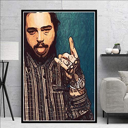 SQSHBBCRapper Hip Hop cantante di Musica Star Art Pittura Poster e Stampe su Tela Immagini a Parete per Soggiornocomplementi arredo casa a20 50x70 cmSenza Cornice