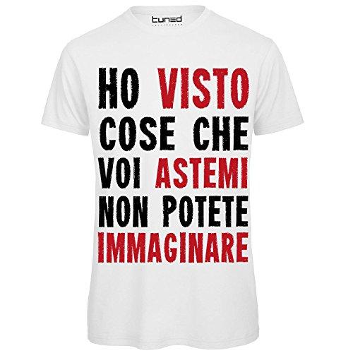CHEMAGLIETTE! T-Shirt Divertente Uomo Maglietta con Stampa Frasi Simpatiche Ho Visto Cose Tuned, Colore: Bianco, Taglia: XL