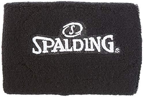 Spalding - Muñequeras, color negro, talla única (pack de 2 unidades)