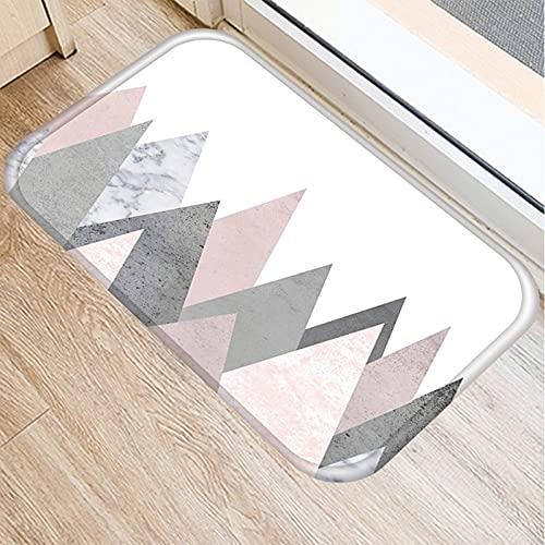 OPLJ Alfombra Antideslizante para Puerta con patrón de mármol a Rayas, Alfombra Absorbente para baño, Cocina, Interior, Sala de Estar A13 40x60cm