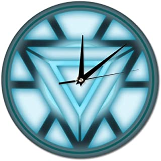 HFL Arc Reactor Iron Man Non-Scale Wall Clock Battery Drive, Silent Decorative Wall Clock, Kitchen Wall Clock, Suitable for Office/Kitchen/Bedroom/Living Room/Classroom