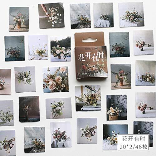Vintage bloem klein dagboek mini Japanse schattige doos stickers set scrapbooking schattige vlokken journal briefpapier