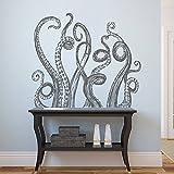 STICKERSFORLIFE Ik1225 Wall Decal Sticker Octopus Tentacles Bathroom Living Room