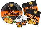 Ciao Kit Party Tavola Happy Halloween per 8 Persone, Single, Colore Arancione, S, Y4388
