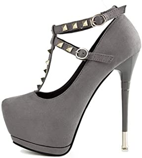 Ying-xinguang Shoes Fashion Sexy Studded Stiletto Platform Women's Shoes Sexy Studded Stiletto Platform Women's Shoes Comfortable