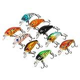 Samfox Señuelo de Pesca, Plastic 3D Lifelike Eyes, Bass Small Fat Crankbait Tackle 4.5cm/4g