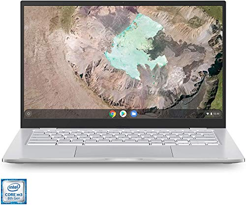 "ASUS Chromebook C425 14"" FHD NanoEdge Clamshell Laptop, Intel Core M3-8100Y Processor, 4GB RAM, 128GB eMMC Storage, Backlit Keyboard, USB Type-C, Chrome OS, Silver"