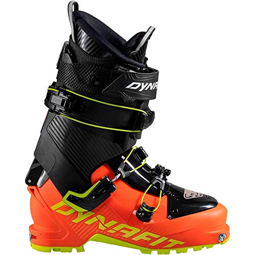 DYNAFIT M Seven Summits Colorblock-Rot-Schwarz, Herren Touren-Skischuh, Größe EU 43 - Farbe Dawn - Lime Punch