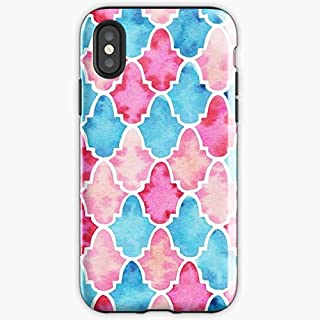 Moroccan Watercolor Pattern Style - Apocalypse Phone Case Glass, Glowing For All Iphone, Samsung Galaxy-duluthpack