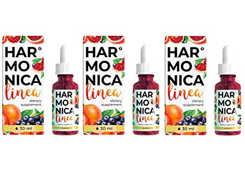 Harmonica Linea | Abnehmtropfen für Gewichtsverlus - 30ml | Nahrungsergänzungsmittel | Orangenextrakt | Cherimoya | Acai-Beeren | Chrompicolinat | Best Choice 2+1