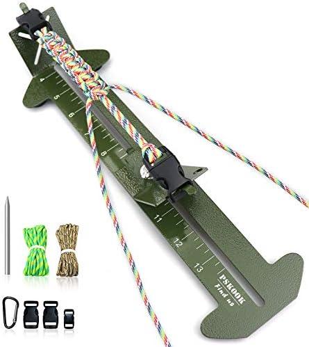 PSKOOK Paracord Bracelet Jig Kit Paracord Tool Kit Adjustable Length Weaving DIY Craft Maker product image