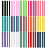 Ewparts 75 palillos pegajosos adhesivos coloreados del arma del pegamento caliente del arte del brillo del paquete, 7mm * 100m m (No-Glitter-75pcs)