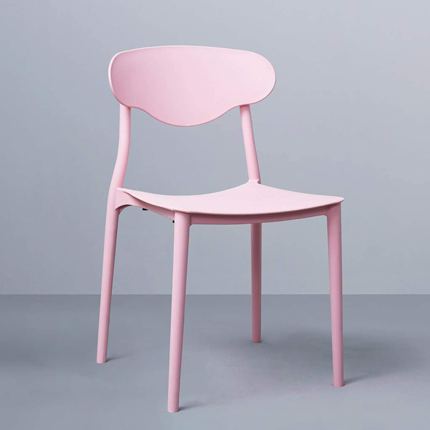 SYFO Chair Fashion Plastic Chair Simple Home Adult Dining Chair Three colors Optional Stool (color   Pink)