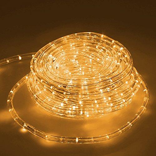 ECD Germany LED Lichtschlauch Lichterschlauch 10 Meter - Gelb- 36 LEDs/m - Innen/Aussen - IP44 - Lichterkette Lichtband Licht Leucht Dekoration Schlauch Leiste Streifen Strip