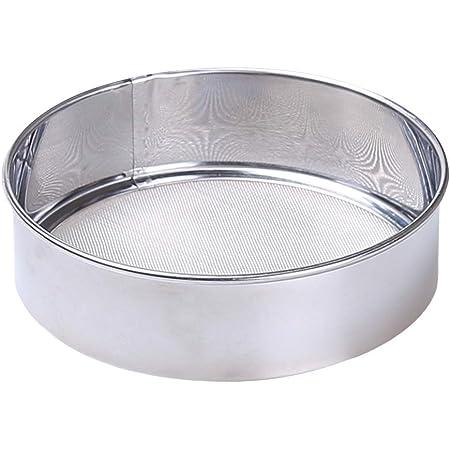 BESTONZON Tamis à farine rond en acier inoxydable fin de 15cm Outils de cuisson pour pâtisserie de cuisine avancée