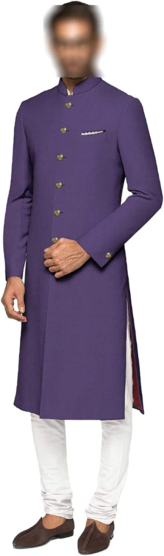 daindiashop-USA Indian Jodhpuri Achkan Suit for Men Wedding Sherwani Partywear bhandgala Outfit