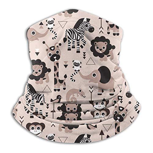 Tiere Löwe Elefant Giraffe Zebra Neck Gamasche Wärmer Winddichte Maske Sport Gesichtsmaske Halbe Sturmhaube Bandana