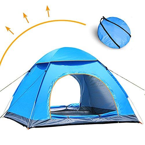 LIVEHITOP Pop Up Tente Ouverture Automatique 3/4 Personnes, Grande Instantanées Tentes Anti UV pour...