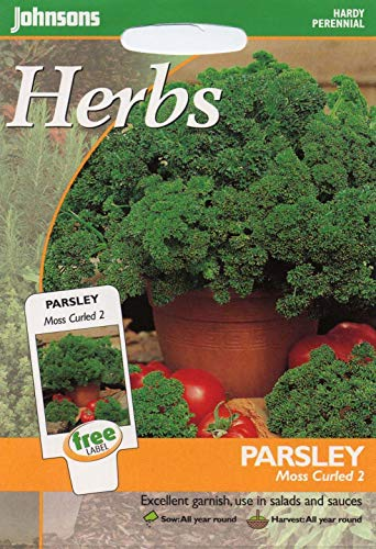 Portal Cool Johnsons Seeds - Paquet Pictorial - Herb - Persil Frisã© Mousse 2-1000 graines