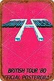 XREE Uriah Heep British Tour'80 Offizielles Poster