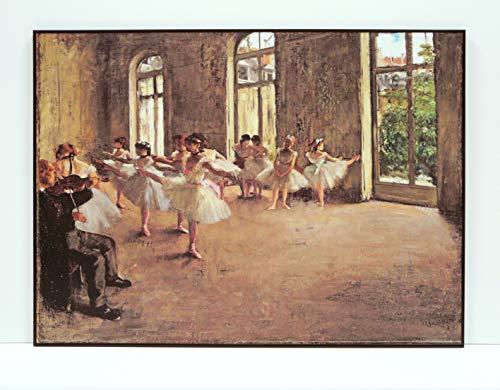 BaikalGallery Edgar Degas EL ENSAYO (1874) Cuadro Enmarcado (P2342) -Moldura de Aluminio Mate Color Negro- Montaje en Panel Adhesivo (Foam)- Laminado en Mate (Sin Cristal) (Negro, 75x100cm)