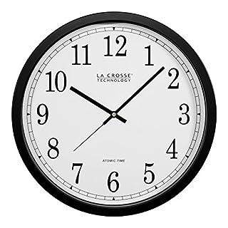 La Crosse Technology WT-3143A  14-Inch Atomic Wall Clock, Black (B0002WZRJK) | Amazon price tracker / tracking, Amazon price history charts, Amazon price watches, Amazon price drop alerts