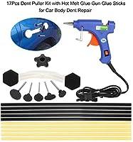 自動車デントリペアtooslセット木工ツールデントリフターハンドツールセットは、実用的なハードウェアの車の修理プラータブは雹の距離(カラー,レッド),黄