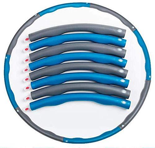 Haojie Hula-Reifen Erwachsene Fitness, Frau 1kg Verstellbare Übung abnehmbare Masse billig Gewichtsverlustmassage mit Schaumstoffverstärkungs-Hoola-Reifen,C,8 Knots