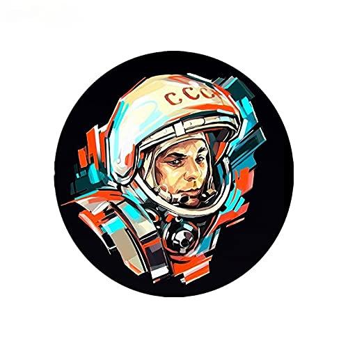 LGLGXR Etiqueta engomada del coche de moda Soviético Astronauta Coches Estilo Pegatinas PVC ACCESORIOS DE Decoración de parachoques Impermeable Equipo de protección solar 15 X 15 cm