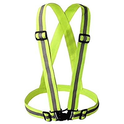 Reflective Gear Nighttime High Visibility for Running - Cycling - Walking | Easy to Adjust | Lightweight Elastic | Put It on Directly Over Your Shirt - Sports Gear