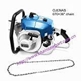 OJENAS Gas-Powered 070 Chain Saw 2 Stroke 105cc 4.8KW with 36' 404.063 52DL Chain ONLY Big Tree Wood Cutting New Blue