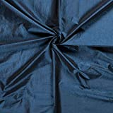 Minerva Crafts Taft Stoff, Meterware, Blaugrün