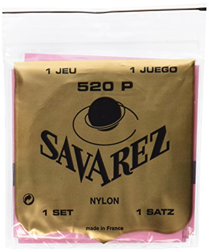 Savarez 655857 Saiten für Klassikgitarre Satz Traditional Concert 520P Standard Tension Nylon rot