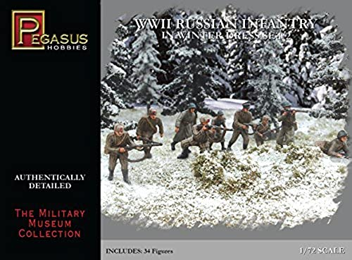 1 72 WWII Russian Infantry in Winter Robe Set 2 by Pegasus Hobbies