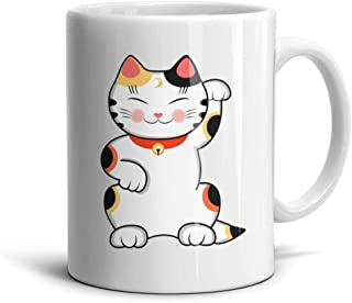 SJDAHG Cute Lucky Cat White Ceramic Coffee Mugs Daily Use Cups