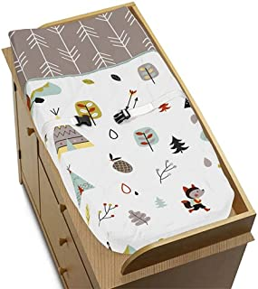 Sweet Jojo Designs Nature Fox Bear Animals Boys or Girls Baby Changing Pad Cover for Outdoor Adventure Collection