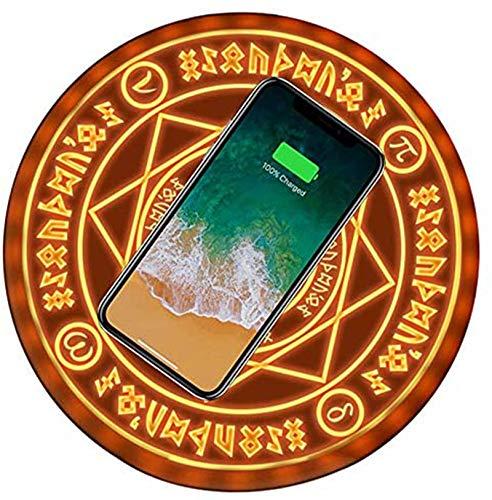 Wireless Charger, Magic Array Wireless-LadegeräT, 10W Qi Ladestation Kabelloses Ladegerät Mit Soundeffekten,Geeignet für iPhone XS/XS Max/XR/X/8 Samsung Galaxy S10 S10+ S10e S9+ S8 Plus