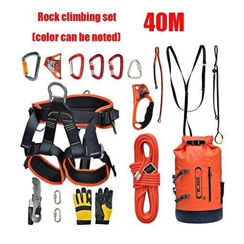 40M Kit de escalada al aire libre Cuerda de seguridad de ...