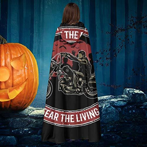 AISFGBJ Walking Dead Daryl Dixon Fight The Dead Fear The Living - Disfraz de Bruja con Capucha para Disfraz de Vampiro