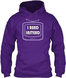 teespring Men's I Read Instead - Sweatshirt - Gildan 8Oz Heavy Blend Hoodie