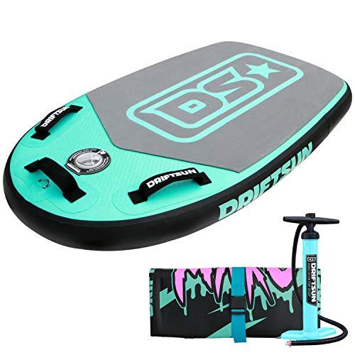 Driftsun Mako Inflatable Bodyboard Package - Portable Bodyboard with RigidAir Drop Stitch Technology...