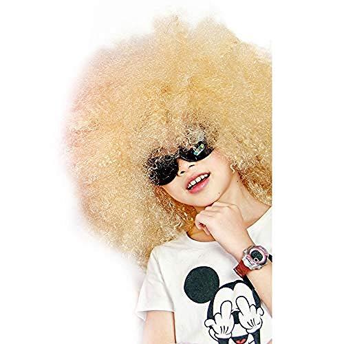 Peluca De Payaso Arcoiris, Peluca Corta Y Rizada Afro Peluca De Disfraces Para Fiesta De Halloween, Navidad, Peluca De Payaso De Disfraz De Cosplay Colorido Claro