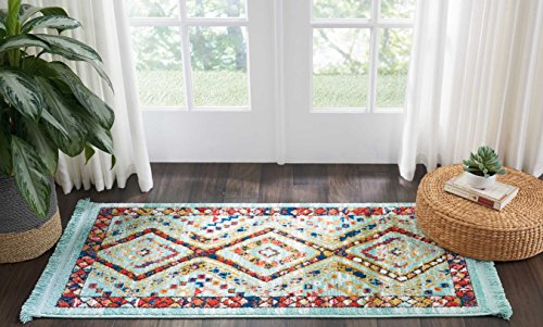 Marca de Amazon - Movian Matevir, alfombra rectangular, 129,5 de largo x 66 cm de ancho (diseño geométrico)
