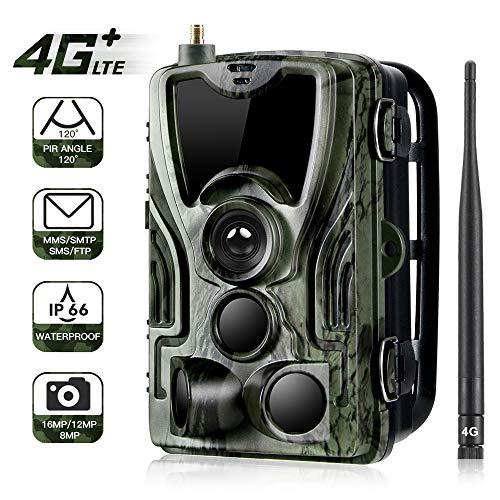 4G Fotocamera Da Caccia, HD 20MP 1080P Fototrappola, SMS MMS Trail Fotocamera 36PCS LED 940NM Fototrappola Infrarossi, Trasmissione Per Telefono Cellulare, Telecamera Di Caccia Impermeabile IP65