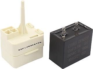 ApplianPar W10613606 Refrigerator Compressor Start Relay & Capacitor for Whirlpool KitchenAid Kenmore Fridges W10416065,...