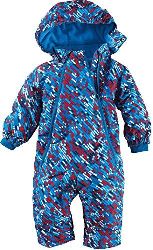 lupilu lupilu® Baby Winteroverall imprägniert mit Bionic® Finish ECO (blau/rot/weiß Striche, Gr. 62/68)