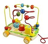 Nuheby Giochi di Bead Maze Roller Coaster in Legno Gioco Labirinto Giochi Educativi per Ba...