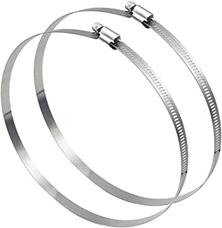 2 inch 4 Pack 304 Stainless Steel Duct Clamps by DocBrother